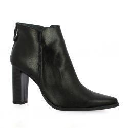 Vidi studio Boots cuir laminé noir