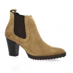 Vidi studio Boots cuir velours camel
