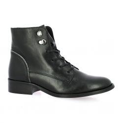 Impact Boots cuir noir