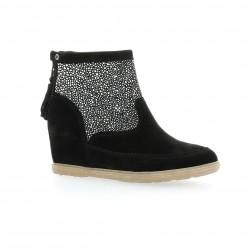 Minka design Boots cuir velours noir