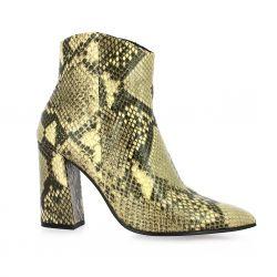 Adele dezotti Boots cuir python crème
