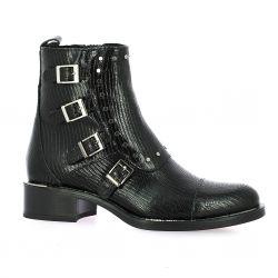 Alpe Boots cuir serpent noir