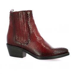 Reqins Boots cuir bordeaux