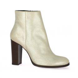 Vidi studio Boots cuir laminé or