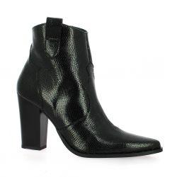 Vidi studio Boots cuir serpent noir