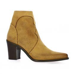 Pao Boots nubuck python cognac