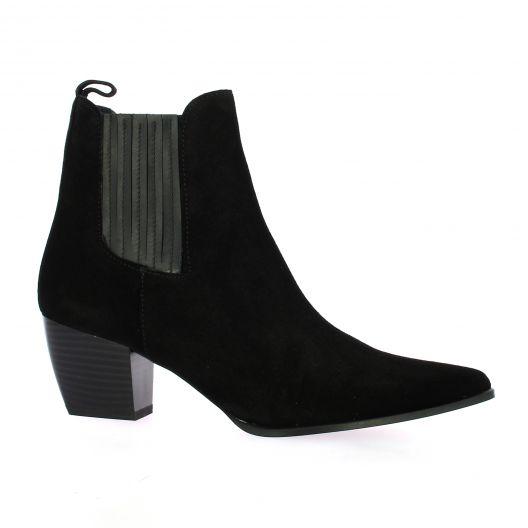 Pao Boots cuir velours noir
