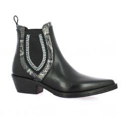 Emanuele Crasto Boots cuir noir