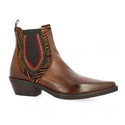 Emanuele Crasto Boots cuir glacé cognac