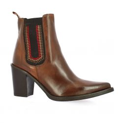 Crasto Boots cuir cognac