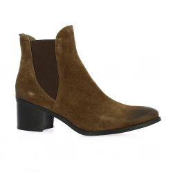 Mkd Boots cuir velours marron
