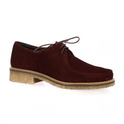 So send Derby cuir velours bordeaux