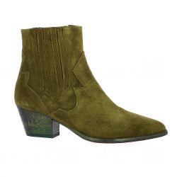 Giancarlo Boots cuir velours kaki