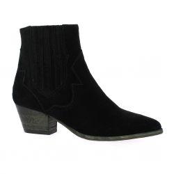 Giancarlo Boots cuir velours noir