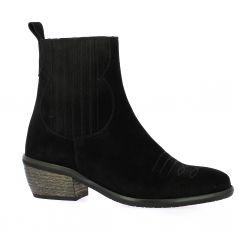 Impact Boots cuir velours noir