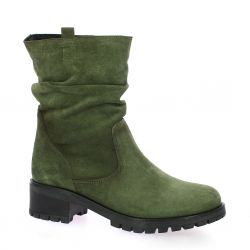 So send Boots cuir velours kaki