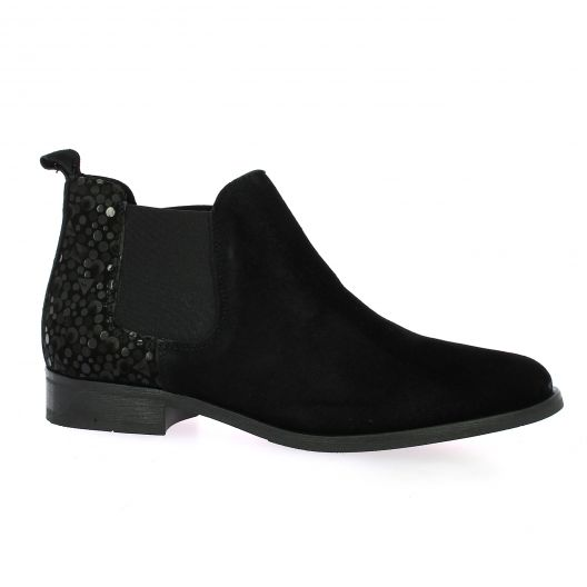 So send Boots cuir velours noir