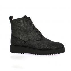 Latina Boots cuir laminé noir