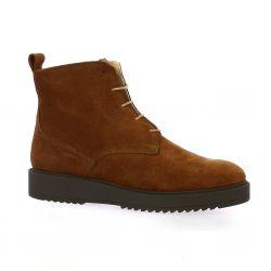 Latina Boots cuir velours cognac
