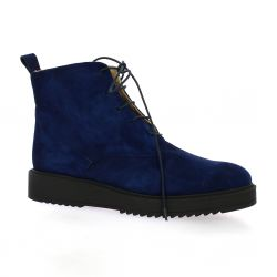 Latina Boots cuir velours marine