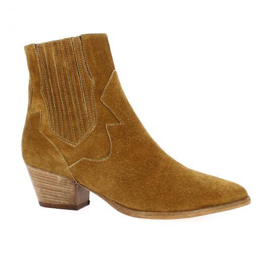 Giancarlo Boots cuir velours cognac