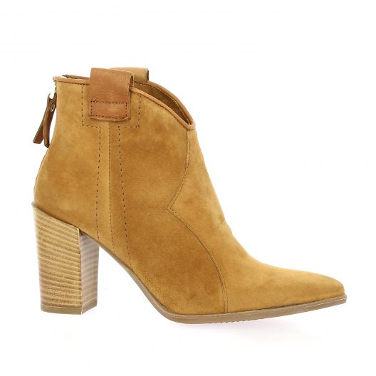Pao Boots cuir velours camel