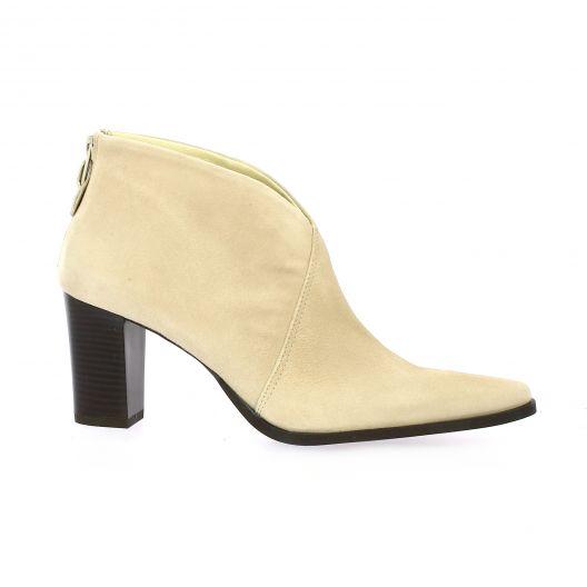 Vidi studio Boots cuir velours beige