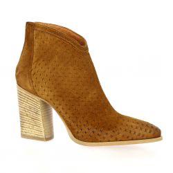 Spazio 08 Boots cuir velours cognac