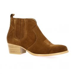Impact Boots cuir velours tabac
