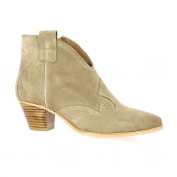 Impact Boots cuir velours taupe
