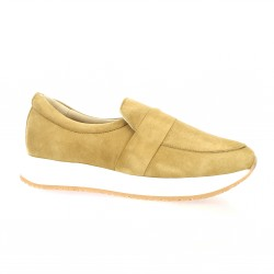 So send Baskets cuir velours camel