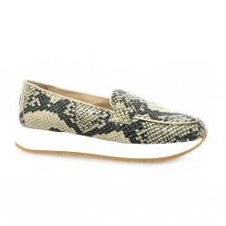 So send Boots cuir python beige