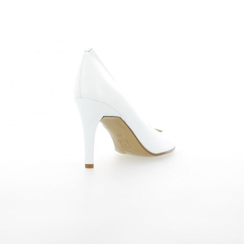 c1c041fe837a Elizabeth Stuart escarpin cuir blanc modèle Cither