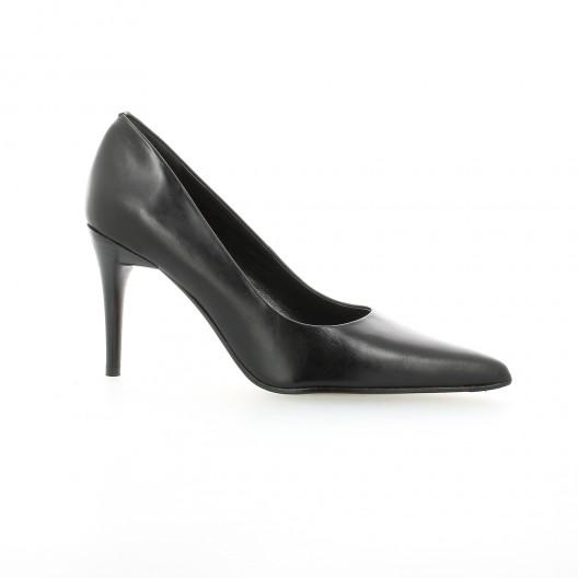 elizabeth stuart escarpins cuir noir mod le leston 304. Black Bedroom Furniture Sets. Home Design Ideas