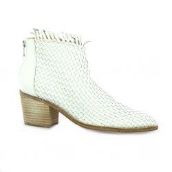 Reqins Boots cuir blanc