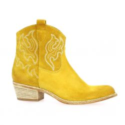 Paoyama Boots cuir velours ocre