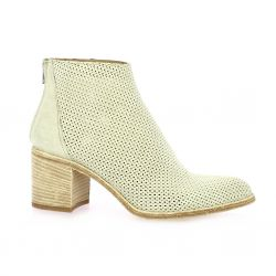 Paoyama Boots cuir velours beige
