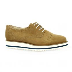 Exit Derby cuir velours camel