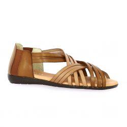 Latina Nu pieds cuir cognac