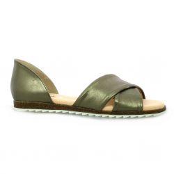 Latina Nu pieds cuir bronze