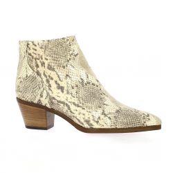 Reqins Boots cuir serpent beige