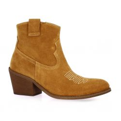 Exit Boots cuir velours cognac