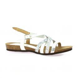 Bianca moon Nu pieds cuir blanc