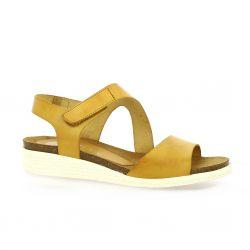 Bianca moon Nu pieds cuir jaune