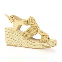 Cassis Nu pieds toile beige