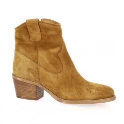 Gaia Boots cuir velours cognac