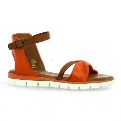 Creator Nu pieds cuir orange