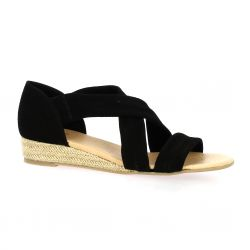 We do Nu pieds cuir velours noir