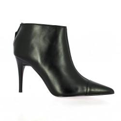 Low boots cuir noir Elizabeth stuart