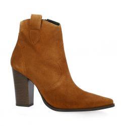 Vidi studio Boots cuir velours cognac